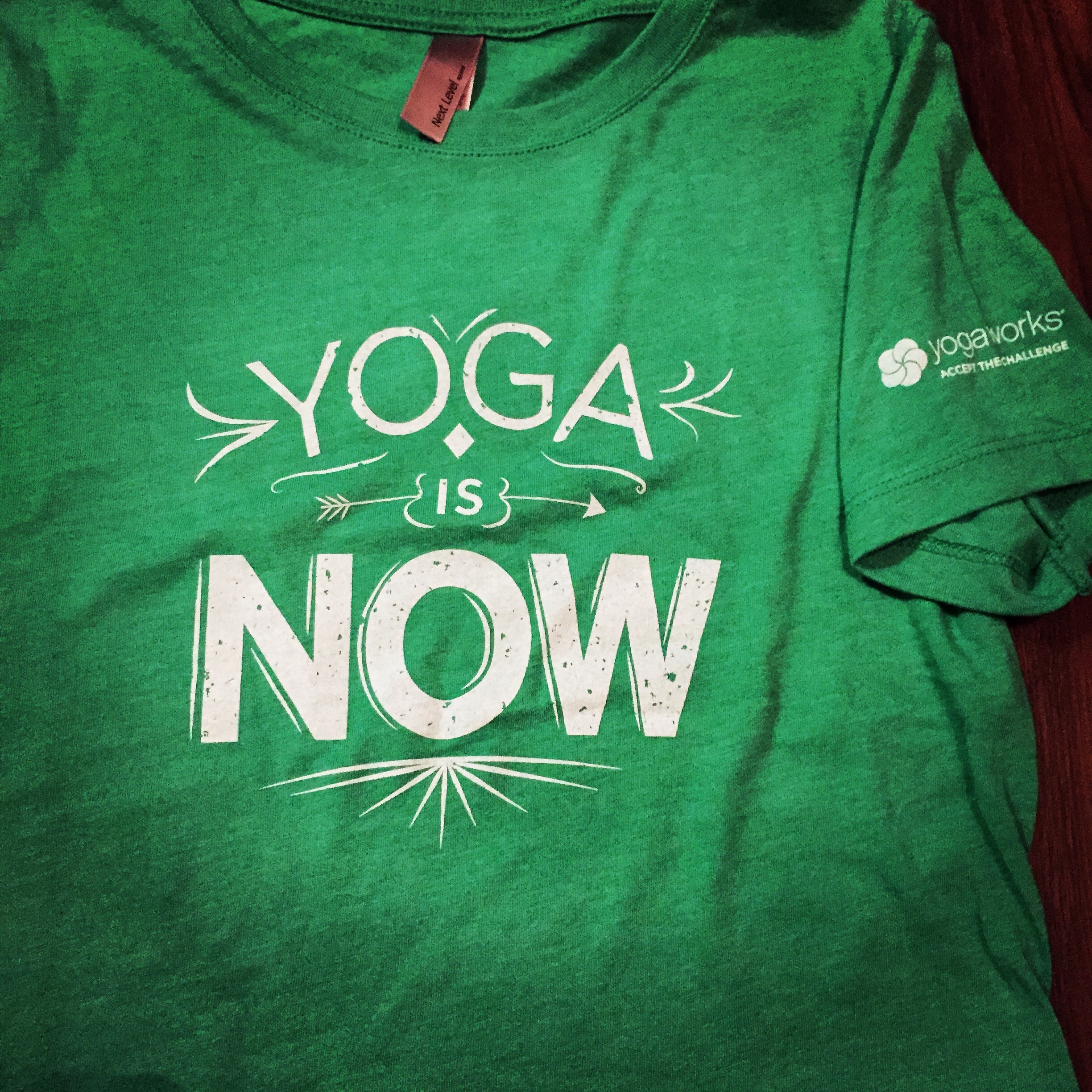 yoga is now shirt